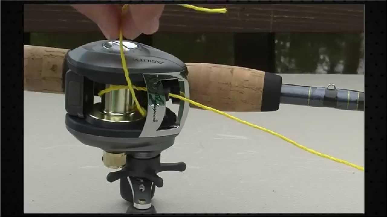 How To Spool A Baitcast Reel Tying Fishing Line Fishing Reels Trolling Reels