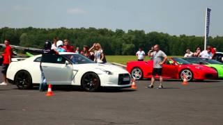 Jazda Ferrari F430 vs Nissan GT-R – Tor Białystok video