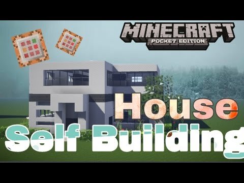 Command Block Map Self Building House In MCPE Minecraft Pe - Minecraft commands fur maps