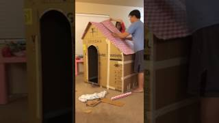 DIY Cardboard playhouse for kids