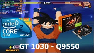 Dragon Ball Z Budokai Tenkaichi 3 - GT 1030 - Core 2 Quad Q9550 (PS2 Emulator Benchmark)