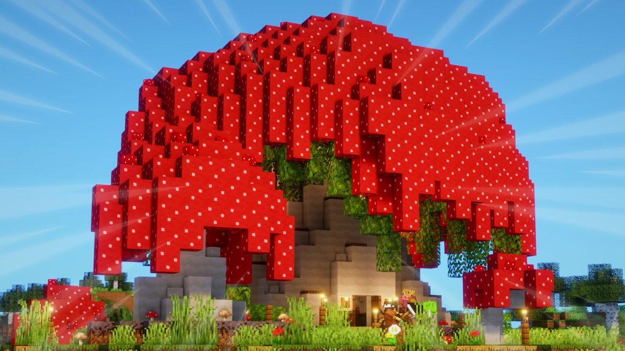 Minecraft Timelapse: MUSHROOM HOUSE in Minecraft