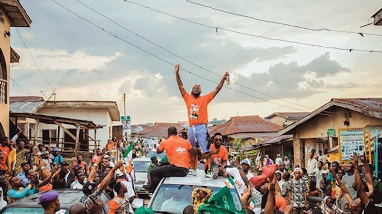 Davido & Chioma Storms Ede With broda shaggi To Campaign For Ademola Adeleke {PDP} In Osun