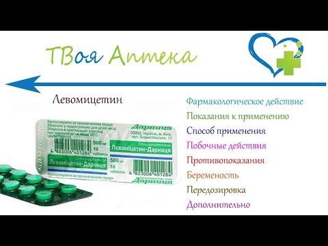 Левомицетин таблетки - показания (видео инструкция) описание, отзывы - хлорамфеникол