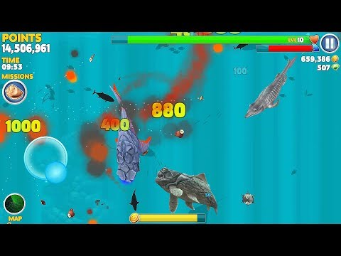 Hungry Shark Evolution Pyro Shark Android Gameplay #28