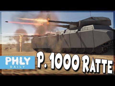 GERMANY'S COLOSSAL TANK P. 1000 RATTE ( War Thunder P.1000 Ratte Gameplay)