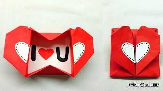 DIY วิธีพับกล่องหัวใจวาเลนไทน์แบบง่ายๆ / แม่เนย น้องพอสDIY