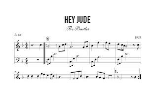 Partitura: The Beatles - Hey Jude | Clases de Produccion de Partituras