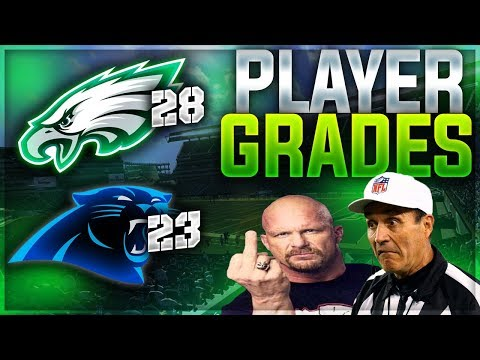 EAGLES BEAT REFS + PANTHERS | Eagles 28 Panthers 23 - Week 6 Player Grades