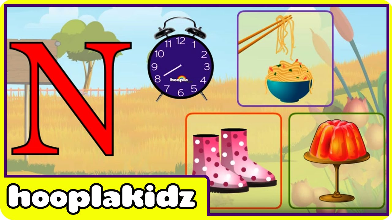 learn about the letter n preschool activity youtube