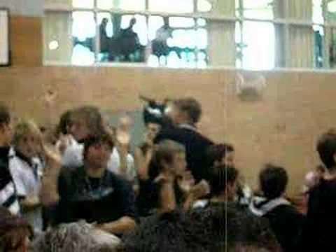 newington basketball crowd. LEBO DRUM!!