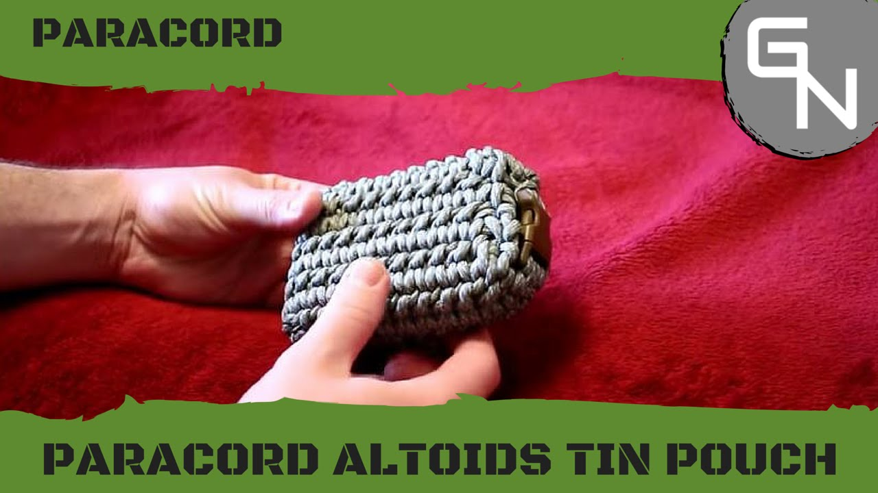 Paracord pouch for altoid 39 s tin how to youtube for How to make a paracord bag