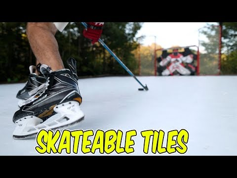 Hockey Tiles You can Skate on! Revolution Tiles Review