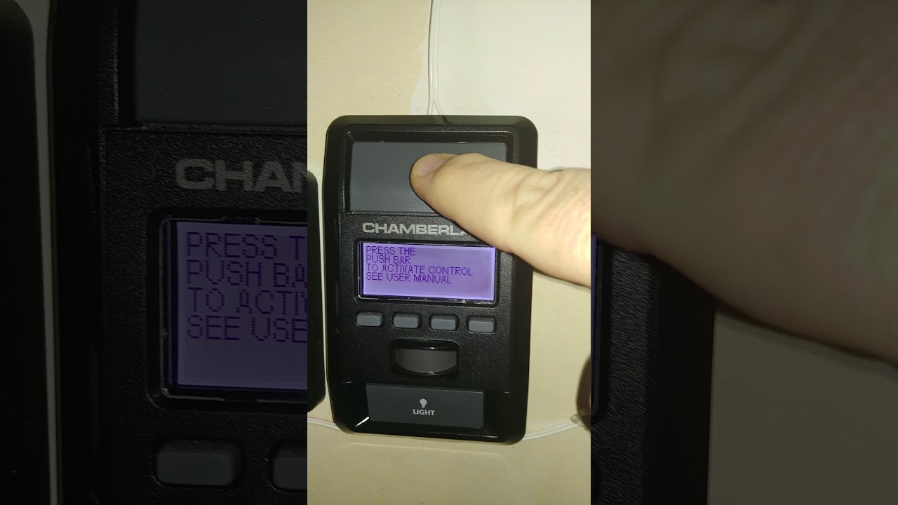 Problem With Chamberlain Liftmaster 880lm Wall Control