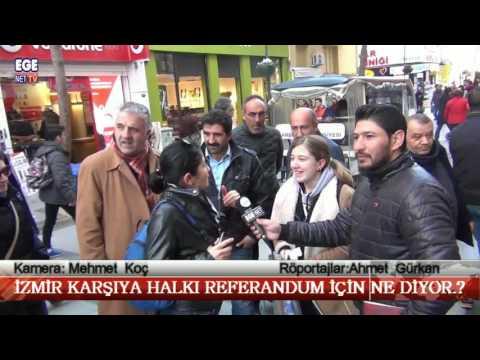 İzmir Karşıyaka halkı Referandum İçin ne diyor.?