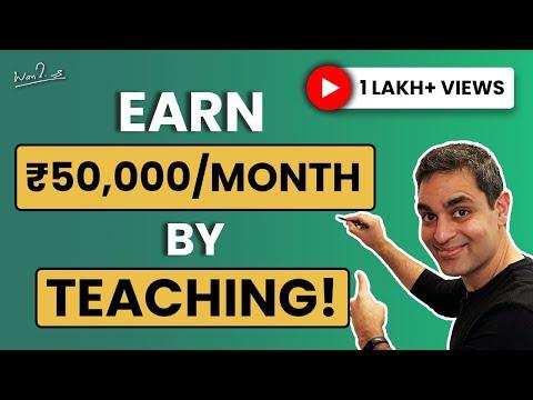 How to earn by teaching online   Ankur Warikoo Hindi Video   Make money online