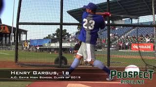 Henry Gargus Prospect Video, 1b, A C  Davis High School Class of 2019