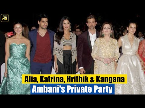 Ambani's Private Party for Celebs | Katrina Kaif, Hrithik Roshan, Siddharth Malhotra