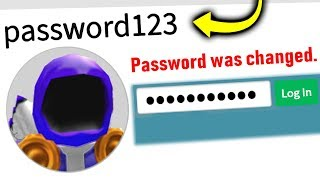 I Put My Roblox PASSWORD In My Name