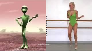Yeni Akım Uzaylı Dansı Yeni Trend Yeşil Uzaylı Dansı Karışık