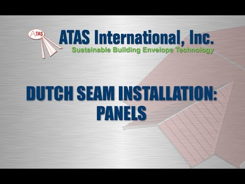 Metal Roof Installation of Standing Seam Panels