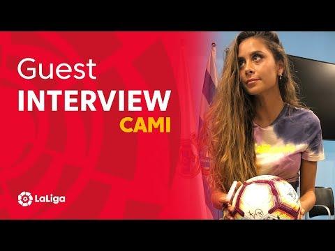 """Cami visita LaLiga: """"Es muy bonito ver los avances del fútbol femenino"""""""