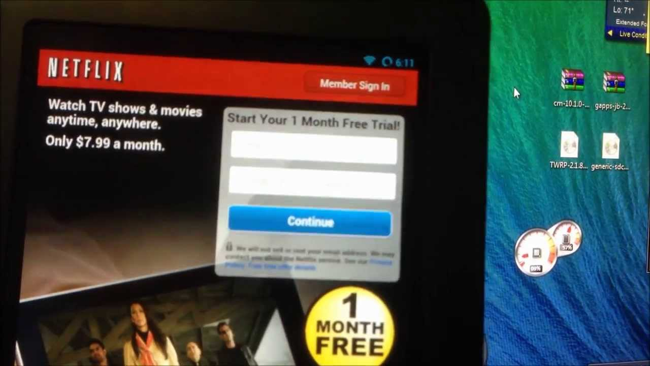 How To Fix Netflex On Nook Color 143 On CM 101  YouTube