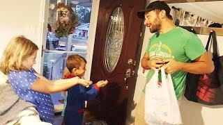 Daddy Bringing Surprises Home!