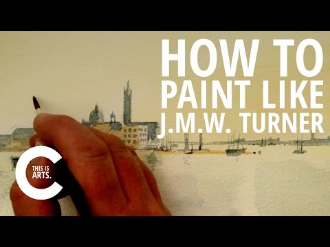 HOW TO PAINT LIKE J.M.W. TURNER WITH CIRCLE LINE | CANVAS