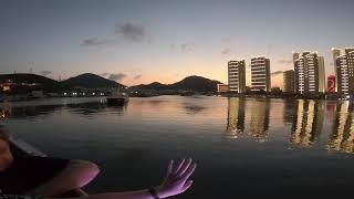 Хайнань Санья 2019 год Вечерняя прогулка на яхте Закат