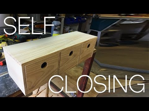 DIY Keys Shelf with Self Closing boxes - Woodworking
