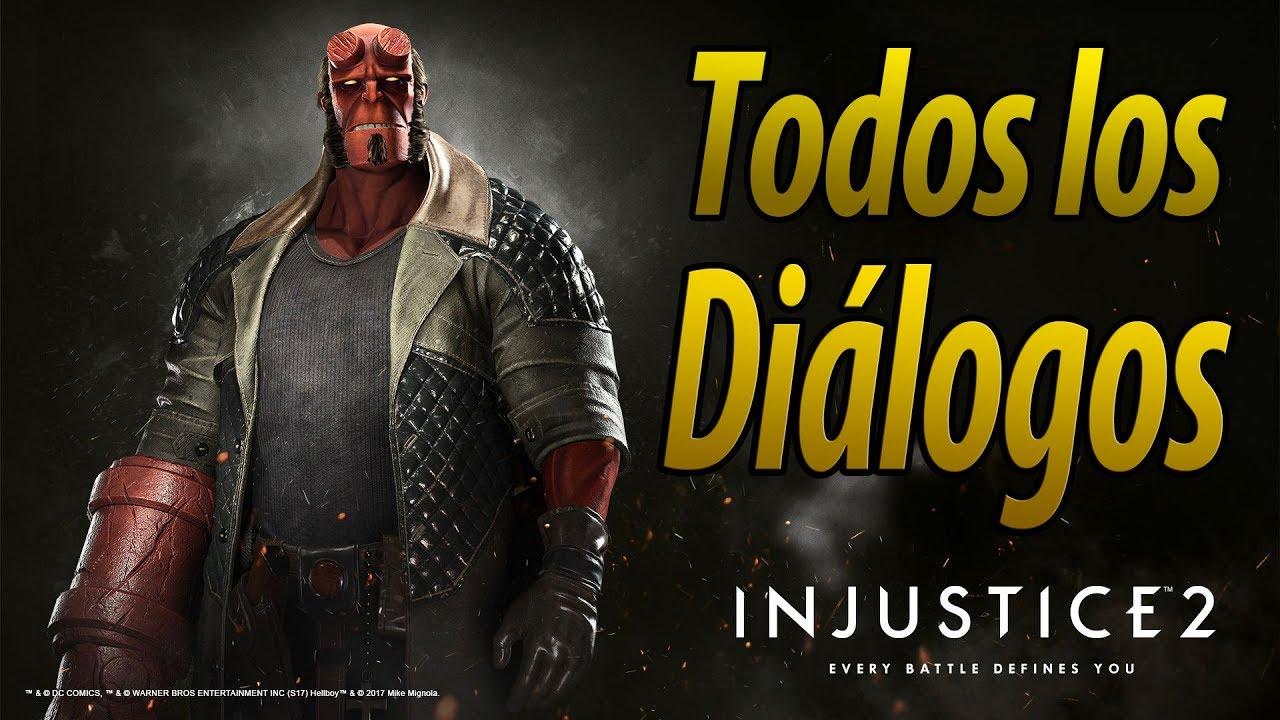 Injustice 2 | Español Latino | Todos los Diálogos | Hellboy | PS4 |