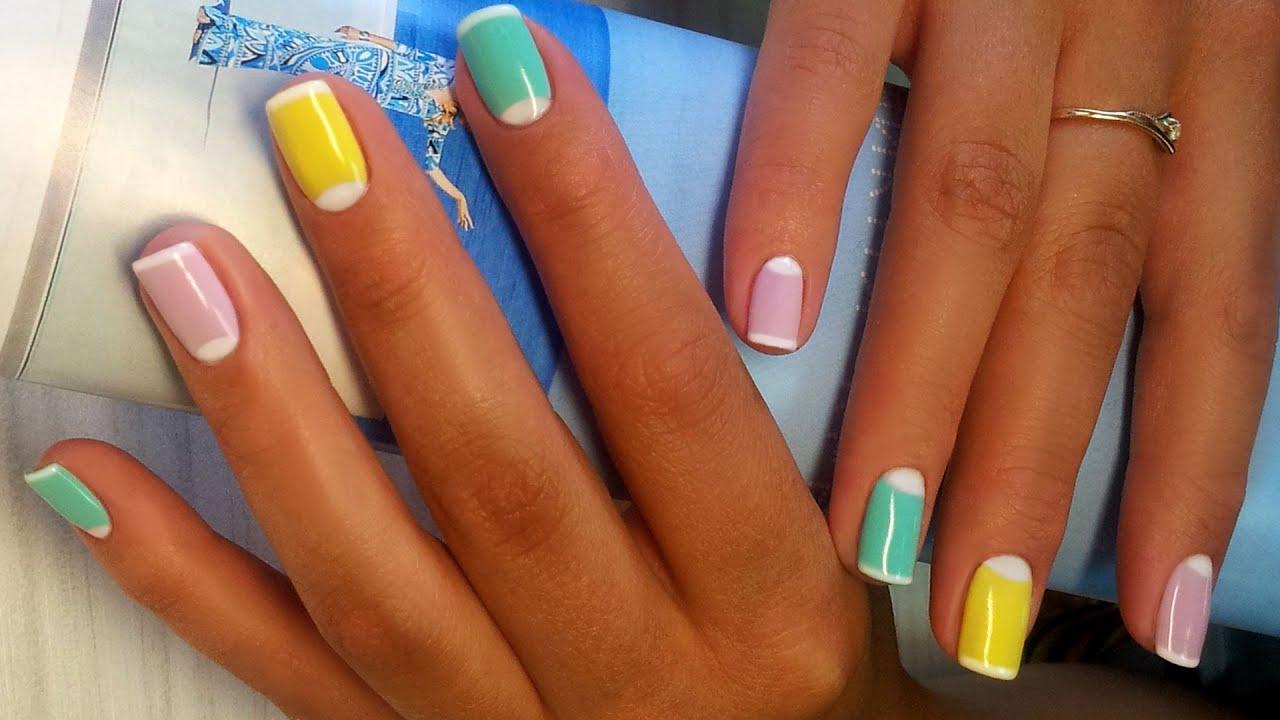 Дизайн ногтей гель-лак shellac - Лунный маникюр + френч ...