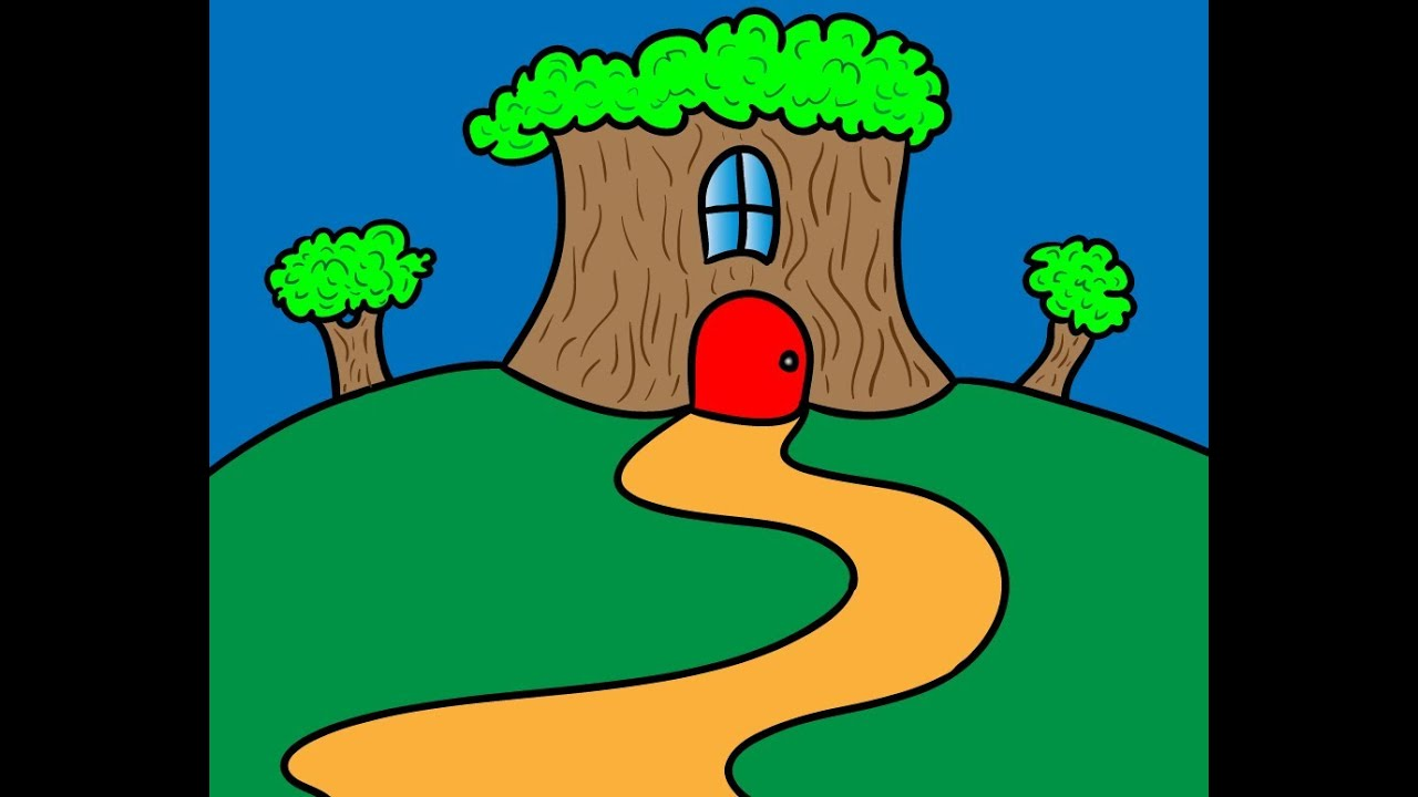 build a tree house drawing ideas for kids youtube - Kids Simple Drawing