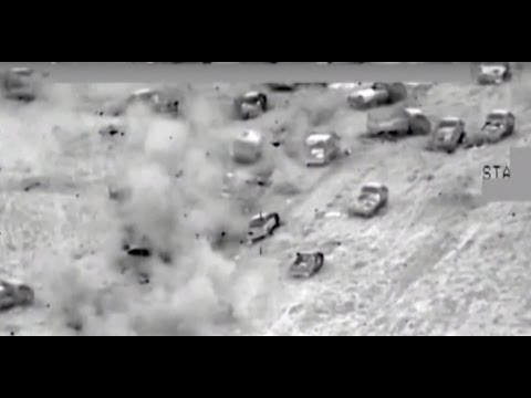 Combat cam: Iraqi aviation annihilates ISIS convoy of 700 vehicles fleeing Fallujah