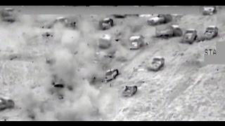 Combat cam: Iraqi aviation annihilates ISIS convoy of 700 vehicles fleeing Fallujah
