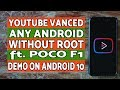 Gambar cover Install Youtube Vanced Any Android | Without Root | ft Poco F1 & Android 10