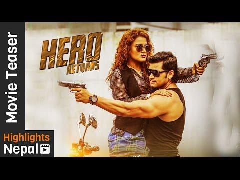 HERO RETURNS - New Nepali Movie Official Teaser 2017 Ft. Rekha Thapa, Sabin Shrestha