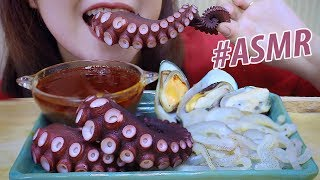 ASMR SEAFOOD DISH with Bloves Sauce(Jelllyfish , octopus , mussel) EXTREME EATING SOUNDS |LINH-ASMR
