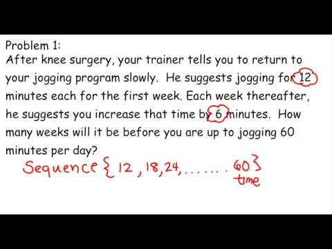 Word Problems For Arithmetic Sequence