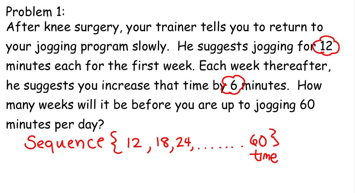 Word Problems for Arithmetic sequence - YouTube
