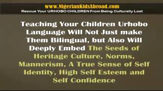 Learn Urhobo Language Software for Urhobo Children Abroad