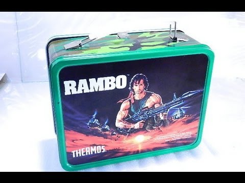 1985 Rambo Metal Lunchbox