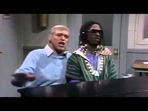 SNL's Joe Piscopo & Eddie Murphy as Stevie Wonder & Frank Sinatra
