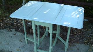 Vintage Painted Shabby Chic Gateleg Table