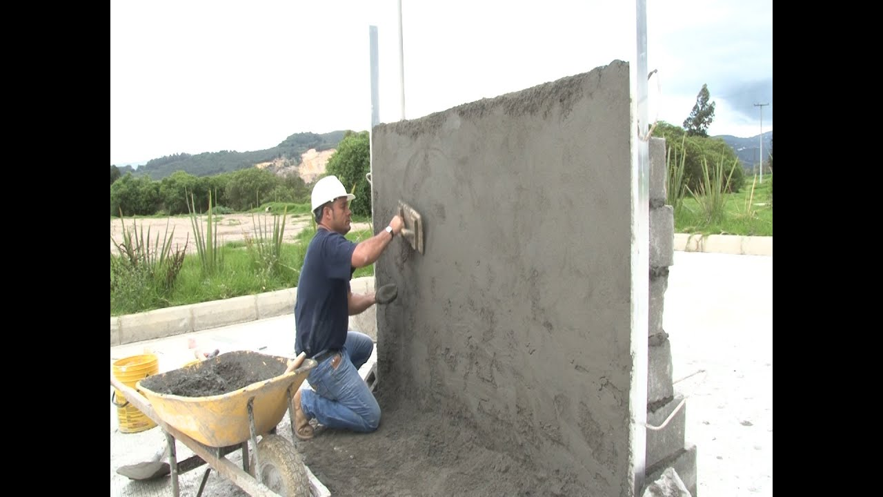 C mo construir un muro en bloque acabados parte iii - Muro de bloques ...