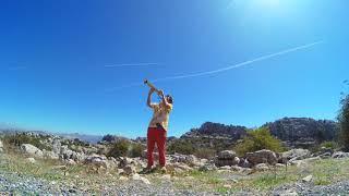 Spiritual Saxman Kazunosuke  In Spain  @Torcal de Antequera