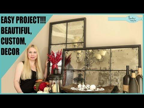 Multi Pane Antique Mirror Build - DIY Home Decor Video