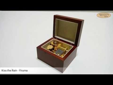 WM104 กล่องดนตรี Kiss the Rain  Yiruma 18 Note Sankyo Music Box