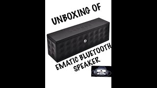 Unboxing Of Ematic Bluetooth Speaker